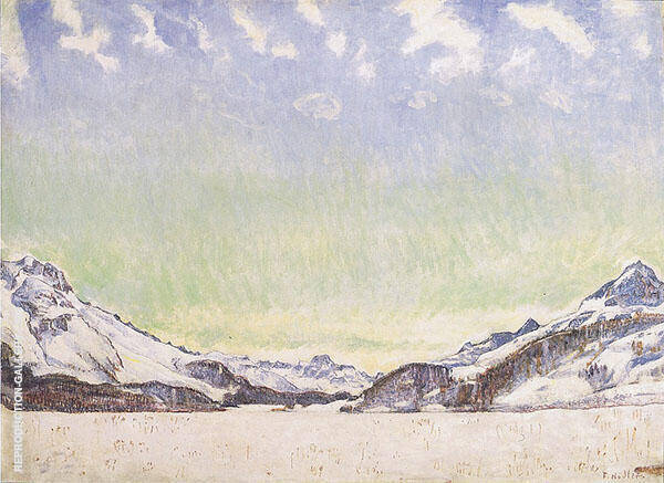 Snow in The Engadin 1907 By Ferdinand Hodler