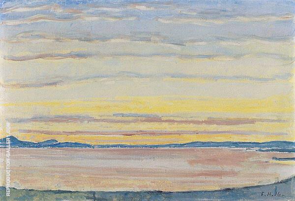 Sunset on Lake Geneva 1915 By Ferdinand Hodler