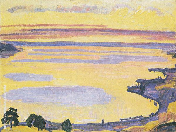 Sunset on Lake Geneva from Caux 1917 By Ferdinand Hodler
