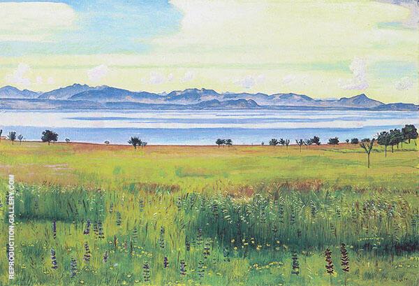 View of Lake Geneva from Saint Prex 1901 By Ferdinand Hodler