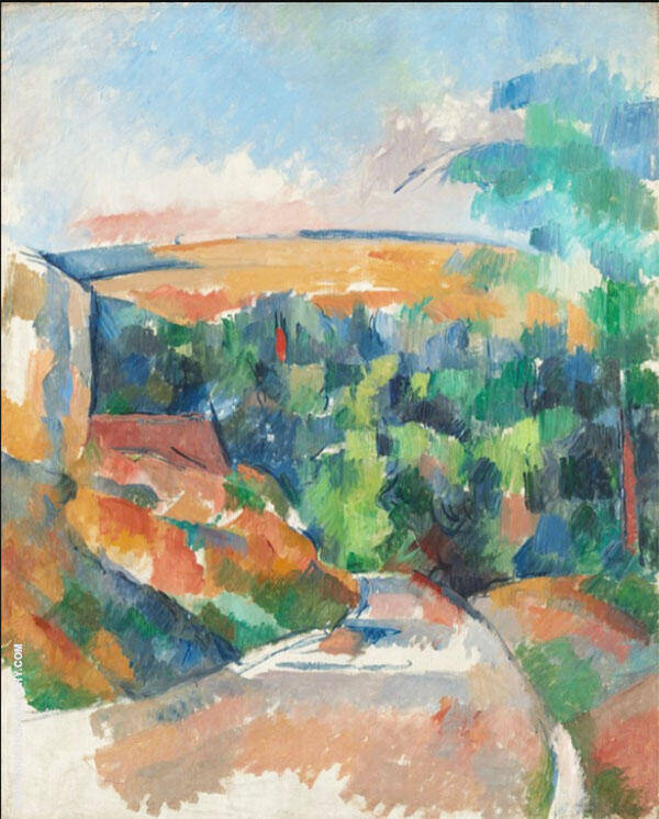 Bend in the Road c1900 By Paul Cezanne