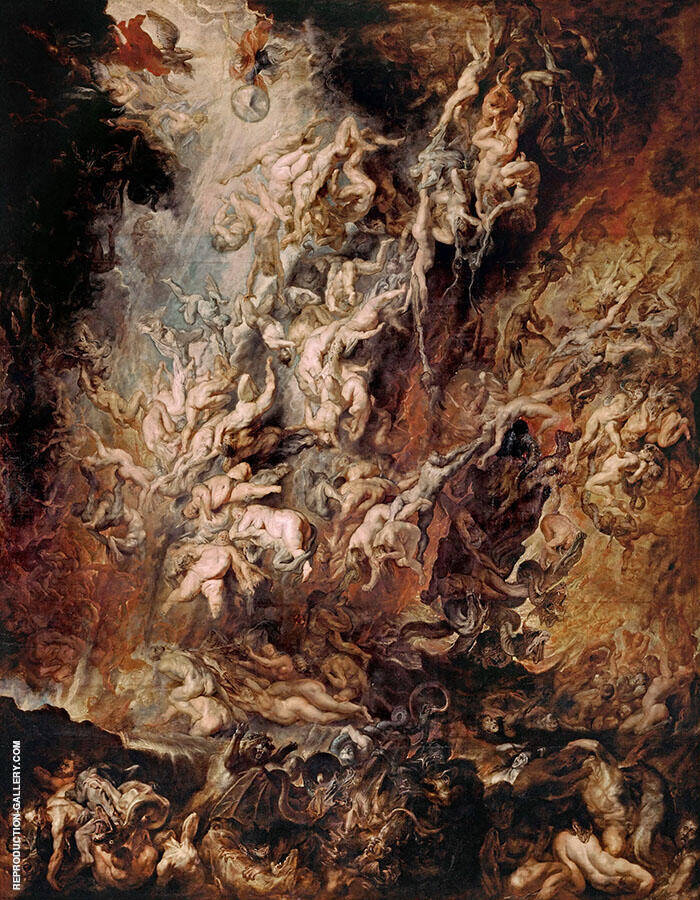 Fall of the Damned c1620 Painting By Peter Paul Rubens