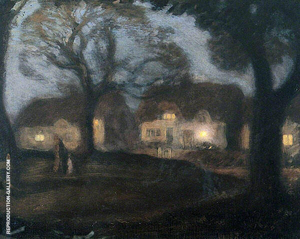 The Village Green in The Night By Sir George Clausen