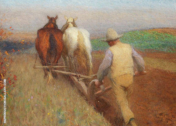 An Autumn Morning Ploughing By Sir George Clausen