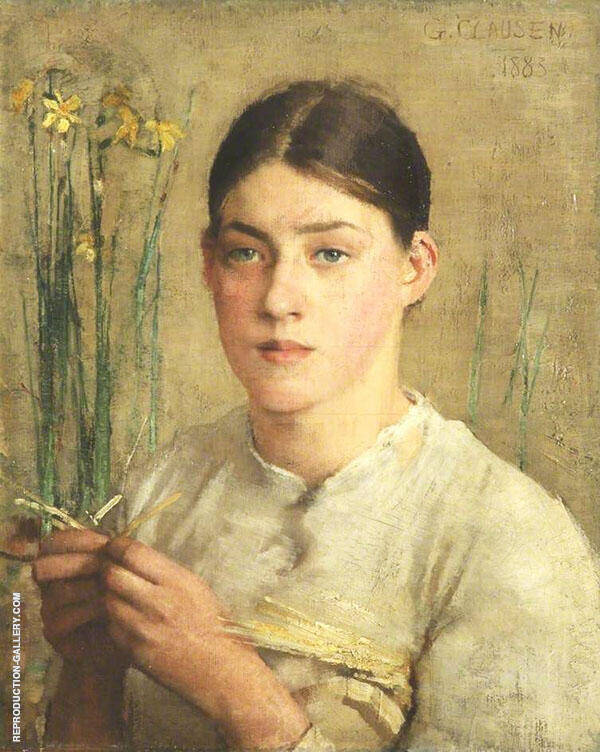 A Straw Plaiter By Sir George Clausen
