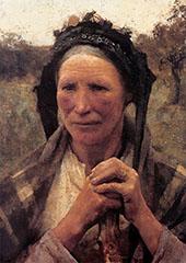 Head of a Peasant Woman Huge By Sir George Clausen