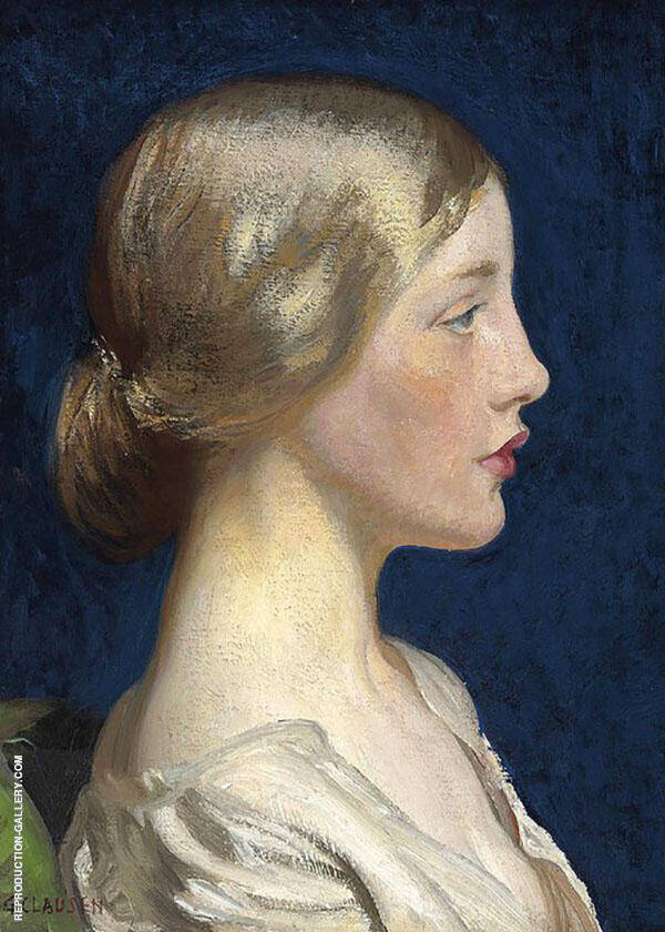 Lily by Sir George Clausen   Oil Painting Reproduction Replica On Canvas - Reproduction Gallery