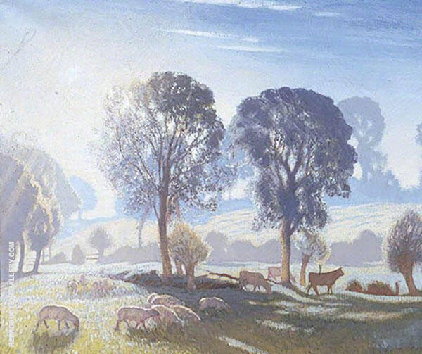 Misty Morning by Sir George Clausen | Oil Painting Reproduction Replica On Canvas - Reproduction Gallery