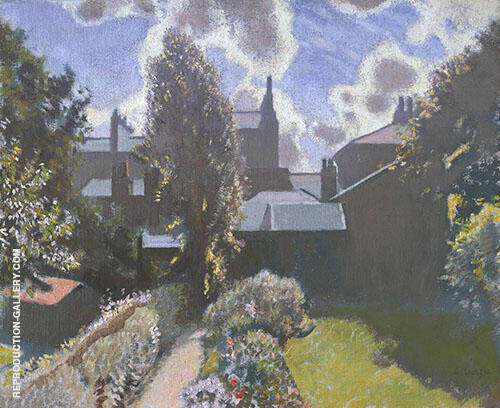 My Back Garden c1940 by Sir George Clausen | Oil Painting Reproduction Replica On Canvas - Reproduction Gallery