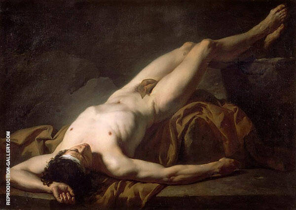 Male Nude known as Hector By Jacques-Louis David