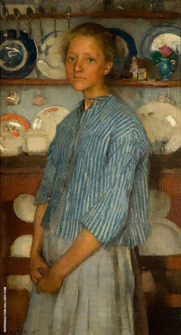 Normandy Peasant 1887 by Sir George Clausen   Oil Painting Reproduction Replica On Canvas - Reproduction Gallery