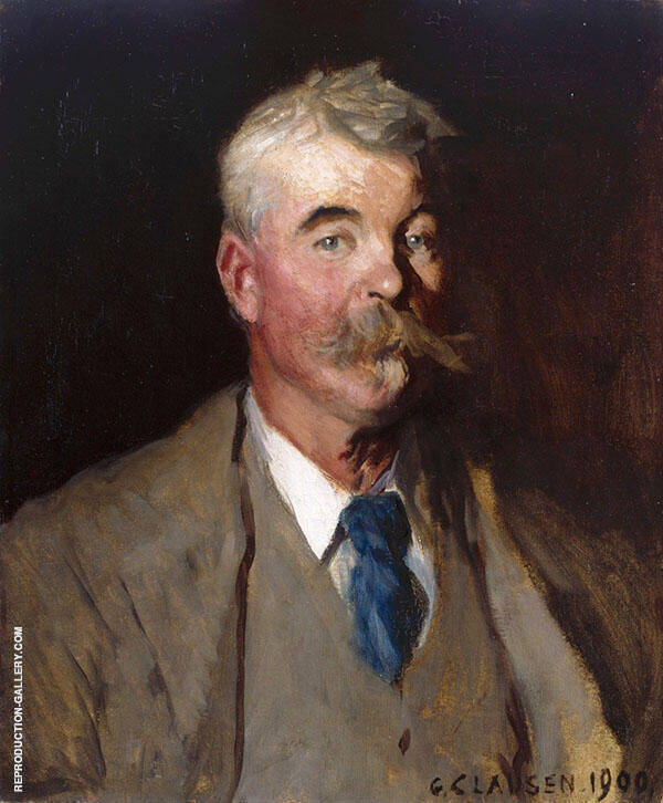 Portrait of Mark Fisher 1900 by Sir George Clausen | Oil Painting Reproduction Replica On Canvas - Reproduction Gallery