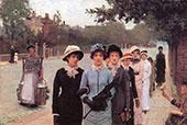 Schoolgirls By Sir George Clausen