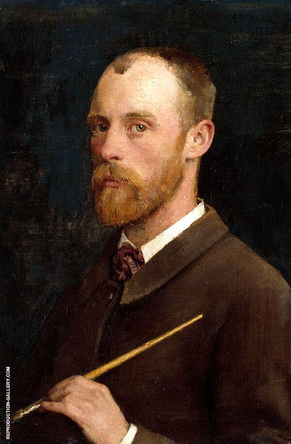 Self Portrait of Sir George Clausen 1882 by Sir George Clausen | Oil Painting Reproduction Replica On Canvas - Reproduction Gallery