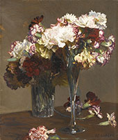 Still Life of Carnations By Sir George Clausen