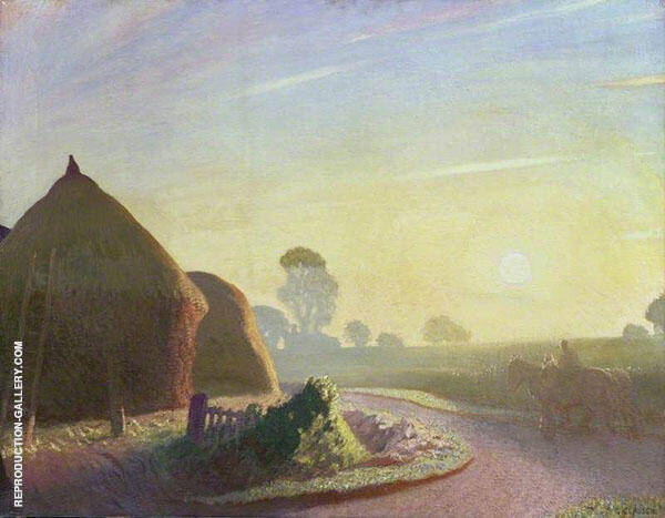 Sunrise in September by Sir George Clausen   Oil Painting Reproduction Replica On Canvas - Reproduction Gallery