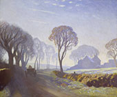 The Road Winter Morning By Sir George Clausen