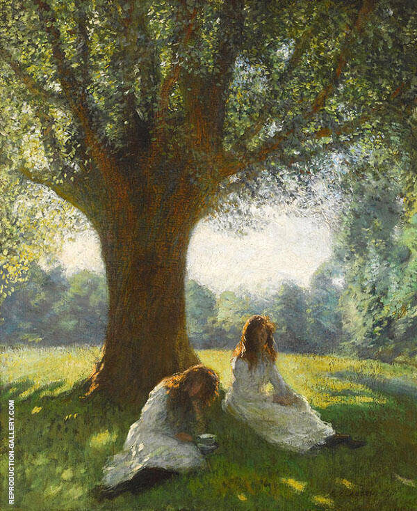 The Spreading Tree by Sir George Clausen | Oil Painting Reproduction Replica On Canvas - Reproduction Gallery