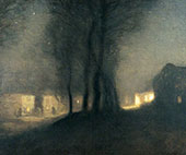 The Village at Night By Sir George Clausen