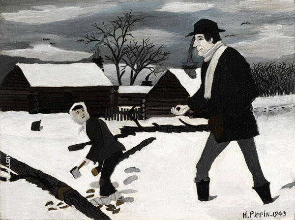 Abe Lincoln The Good Samaritan 1943 By Horace Pippin