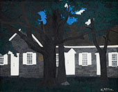 Birmingham Meeting House III 1941 By Horace Pippin