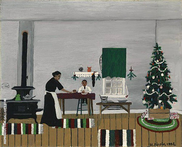 Christmas Morning Breakfast 1945 By Horace Pippin
