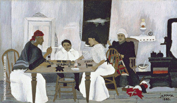 Domino Players 1943 By Horace Pippin