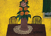 Floral Still Life c1944 By Horace Pippin