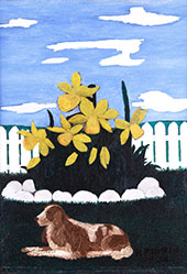 Giant Daffodils 1940 By Horace Pippin