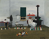 Interior 1944 By Horace Pippin