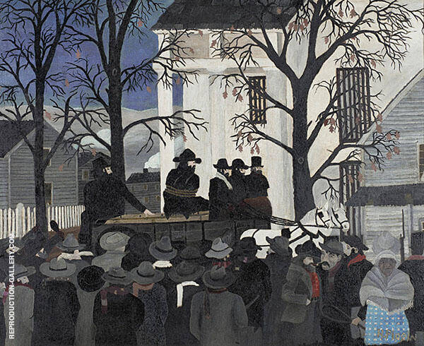 John Brown Going to His Hanging 1942 By Horace Pippin