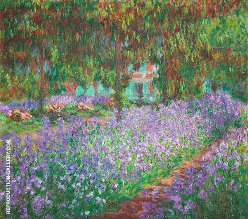 The Artist's Garden Giverny 1900 by Claude Monet | Oil Painting Reproduction Replica On Canvas - Reproduction Gallery