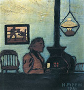 Man Seated Near Stove 1941 By Horace Pippin