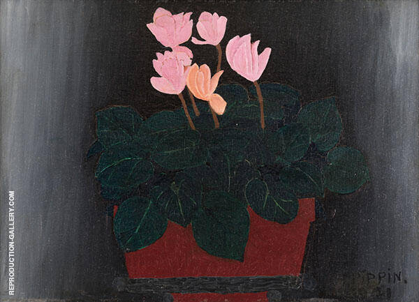 Pink Flowers 1941 By Horace Pippin