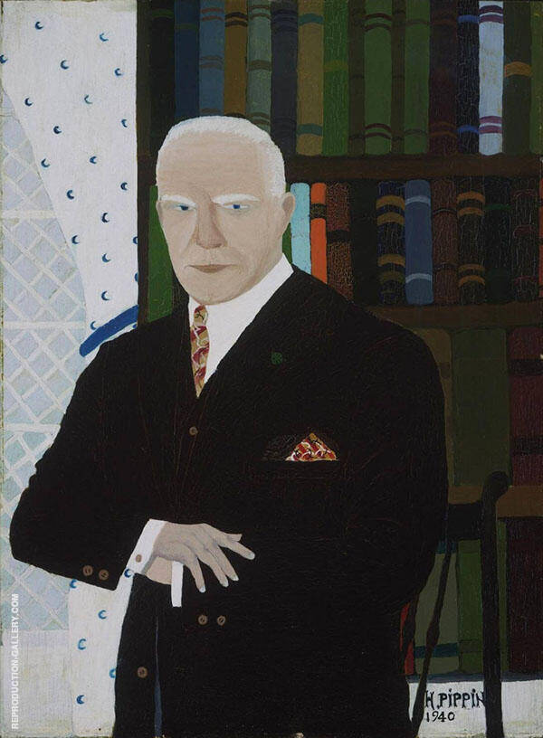 Portrait of Christian Brinton 1940 Painting By Horace Pippin