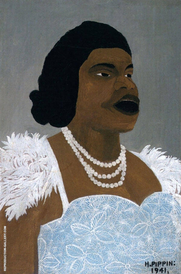 Portrait of Marian Anderson 1941 By Horace Pippin