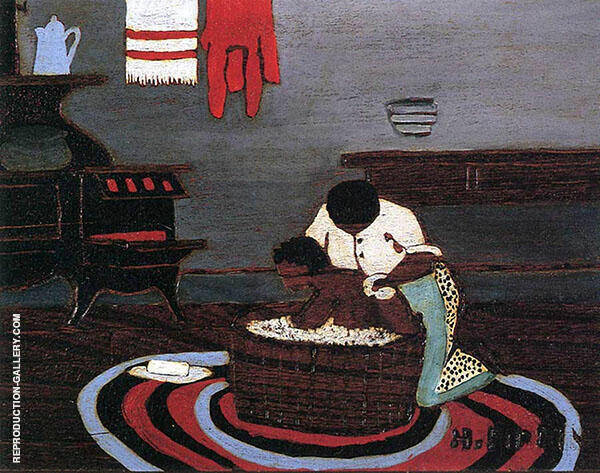 Saturday Night Bath Painting By Horace Pippin - Reproduction Gallery
