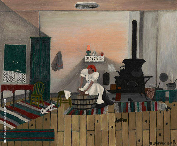 Saturday Night Bath 1945 Painting By Horace Pippin - Reproduction Gallery