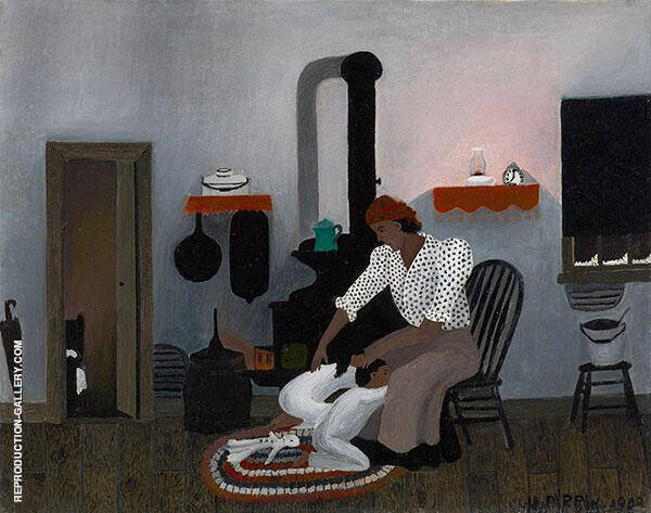 Saying Prayers 1943 Painting By Horace Pippin - Reproduction Gallery