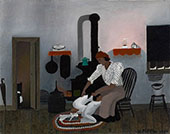 Saying Prayers 1943 By Horace Pippin