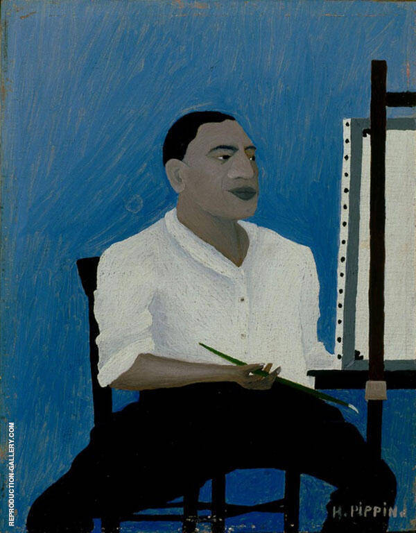 Self Portrait 1941 Painting By Horace Pippin - Reproduction Gallery
