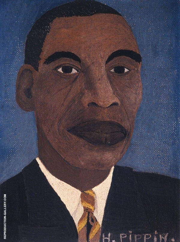 Self Portrait I 1944 Painting By Horace Pippin - Reproduction Gallery