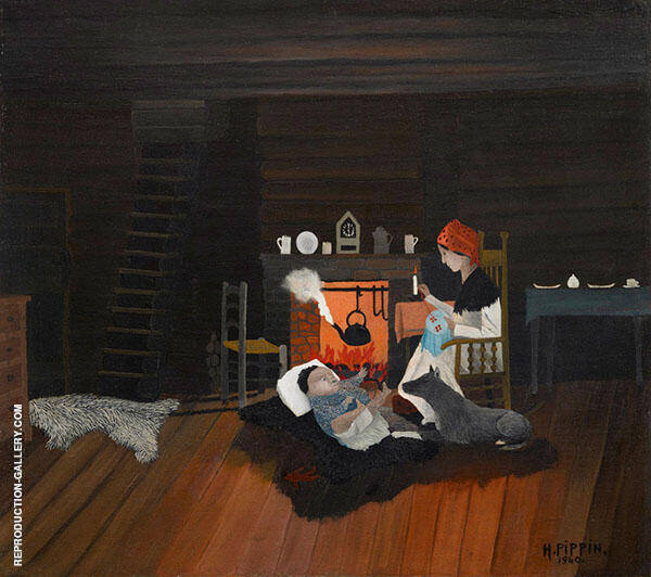 Six O'Clock 1940 Painting By Horace Pippin - Reproduction Gallery