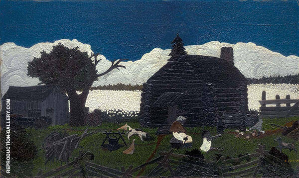 Cabin in The Cotton 1930 Painting By Horace Pippin - Reproduction Gallery