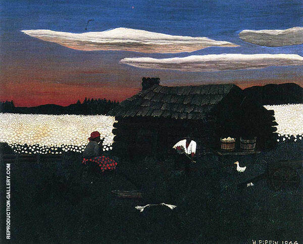 Cabin in The Cotton III Painting By Horace Pippin - Reproduction Gallery