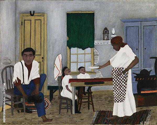 Sunday Morning Breakfast 1943 Painting By Horace Pippin