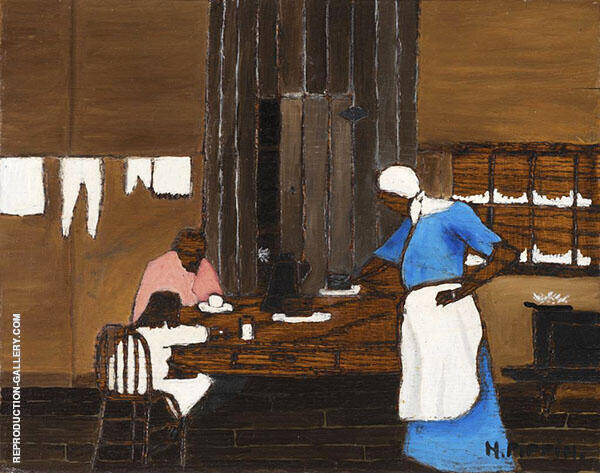 Supper Time c1940 Painting By Horace Pippin - Reproduction Gallery