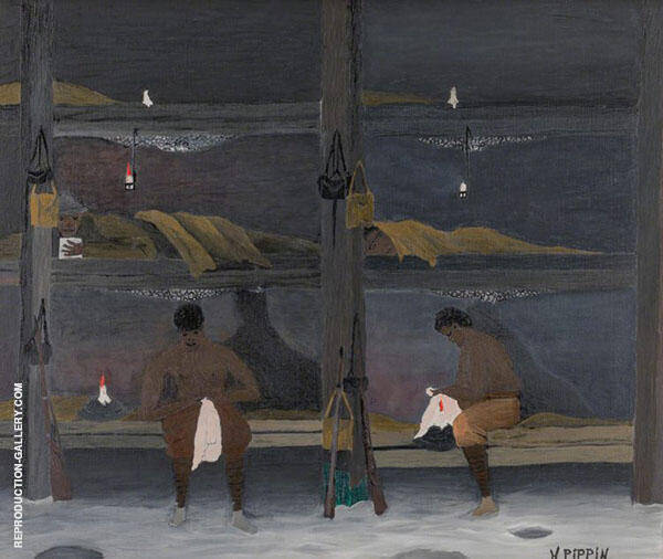 The Barracks 1945 Painting By Horace Pippin - Reproduction Gallery