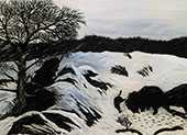 The Buffalo Hunt 1933 By Horace Pippin