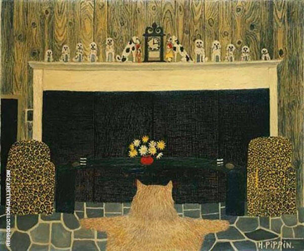 The Den Painting By Horace Pippin - Reproduction Gallery